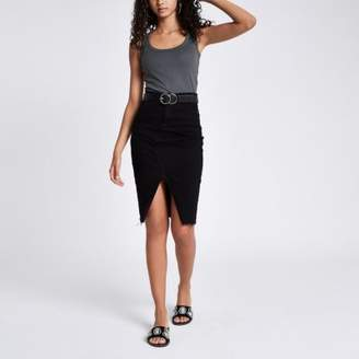 River Island Grey scoop neck thick strap tank