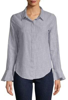 Sanctuary Striped Bell-Sleeve Blouse