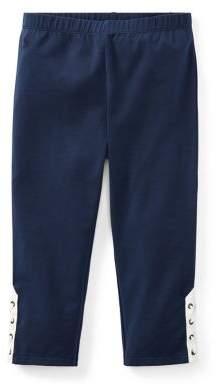 Ralph Lauren Childrenswear Girl's Logo Lace-Up Leggings