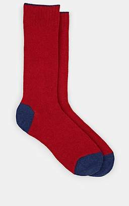 Barneys New York Men's Colorblocked Mid-Calf Socks - Blue
