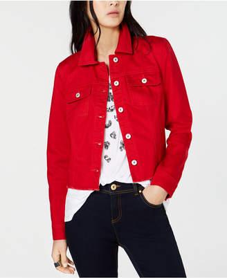 INC International Concepts I.n.c. Raw-Edge Denim Jacket