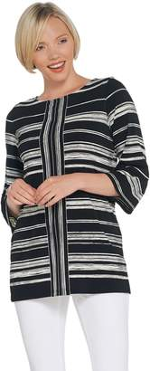 Susan Graver Printed Liquid Knit 3/4-Sleeve Tunic