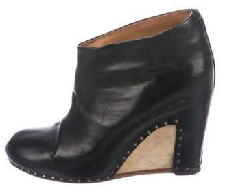 Maison Margiela Leather Wedge Ankle Booties