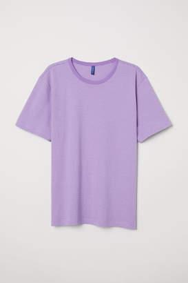 H&M Striped T-shirt - Purple