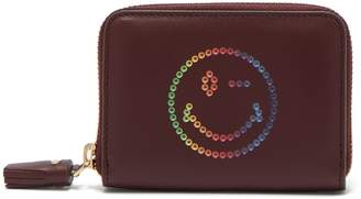 Anya Hindmarch Rainbow Wink leather compact wallet