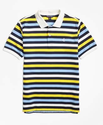 Brooks Brothers (ブルックス ブラザーズ) - 【オンライン限定SALE】BOYS GF コットンピケ ストライプ ポロシャツ