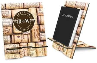 Monogram Online Wine Corks Personalized Book and iPad Stand