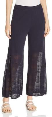 Nic+Zoe Honeymoon Pointelle Wide-Leg Pants