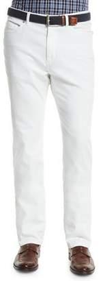 Peter Millar Five-Pocket Stretch Denim Pants, White $198 thestylecure.com