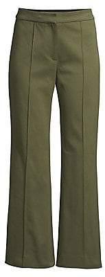 Derek Lam Women's Cropped Flare Twill Trousers