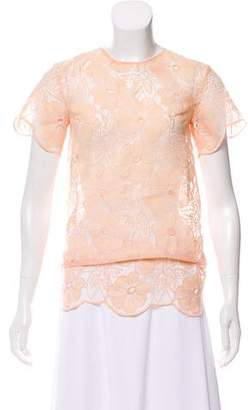 Karla Špetic Embroidered Sheer Top