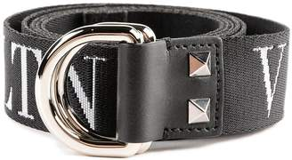 Valentino Vltn Print D-buckle Belt