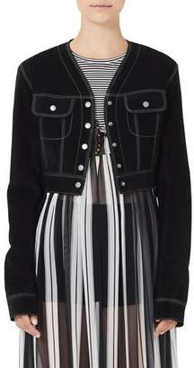 Marc Jacobs Cropped Jean-Style Suede Jacket