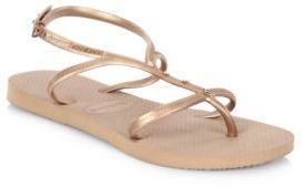 Havaianas Allure Maxi Sandals $38 thestylecure.com