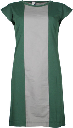 Format PLUM Green Grey Single Plain Dress - S - Green/Grey