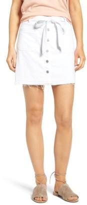 Women's 7 For All Mankind Released Hem Denim A-Line Skirt