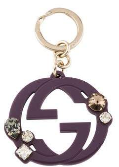 Gucci Crystal GG Keychain