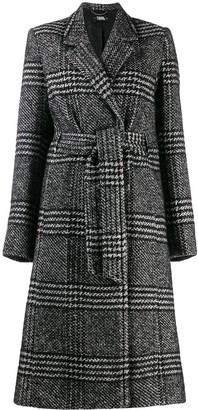 Karl Lagerfeld Paris tailored check coat