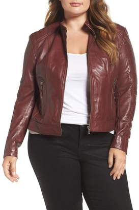 Moto SLINK JEANS Leather Jacket (Plus Size)