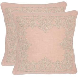 "Safavieh Florentine 20"" x 20"" Petal Pillow, Set of 2"