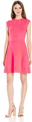 Ted Baker Women's Zaralie Jacquard Panel Skater Dress, 4