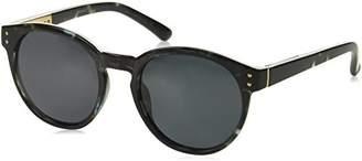 Foster Grant Women's 24244 Gray Polarized Round Sunglasses