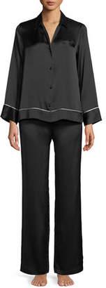 Josie Natori Silk Spread-Color Pajama Set