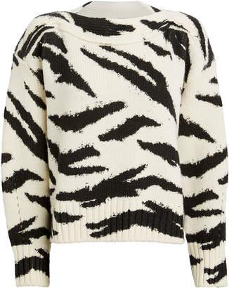 Philosophy di Lorenzo Serafini Zebra Merino Wool Sweater