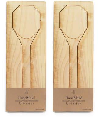 Te Plus Te Hinoki Wood Server Spoons (Set of 2)