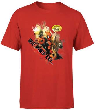 Marvel Deadpool Outta The Way Nerd T-Shirt - Red