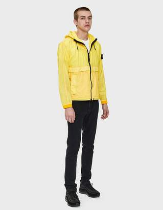 Stone Island Resin Poplin-TC Hooded Jacket in Yellow