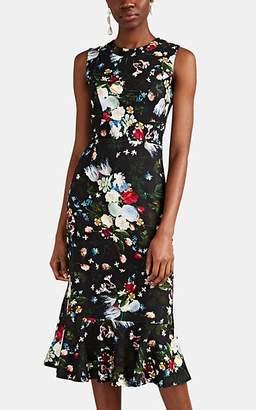 Erdem Women's Grazia Floral Jersey Sheath Dress - Black Multi