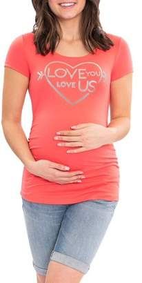 Great Expectations Maternity Short Sleeve Scoop Neck Tshirt