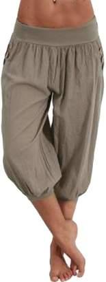 Wenko Joe JWK Womens Yoga Trousers Jogger Harem Solid Capri Plus Size Pants XL