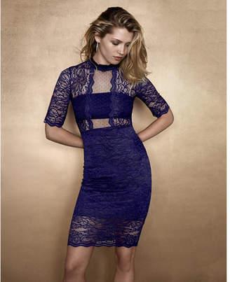 Express lace mock neck  dress $98 thestylecure.com