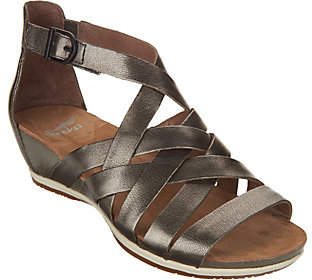 Dansko Leather Multi-strap Wedge Sandals -Vivian