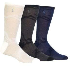 Polo Ralph Lauren Three-Pack Mixed Mesh Camouflage Crew Socks