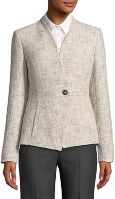 Donna Karan Textured V-Neck Blazer