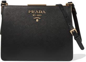 Prada Frame Textured-leather Shoulder Bag