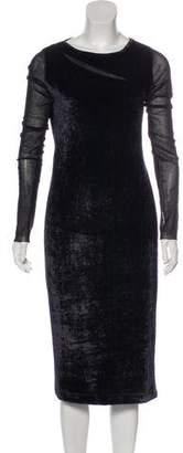 Fuzzi Velvet Bodycon Dress