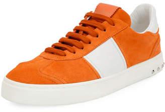Valentino Men's Fly Suede Low-Top Sneakers