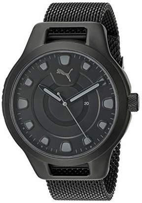 Puma Men's Reset V1 Quartz Watch with Stainless Steel Mesh Strap