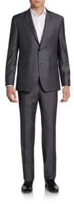 Saks Fifth Avenue RED Trim-Fit Wool Two-Button Suit