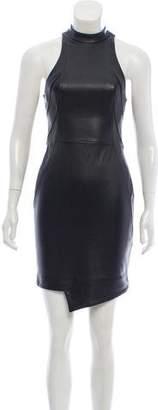 Nicholas Leather-Paneled Knit Dress w/ Tags