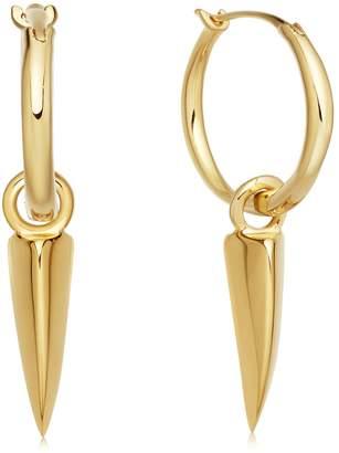 Missoma Mini Dagger Charm Hoop Earrings