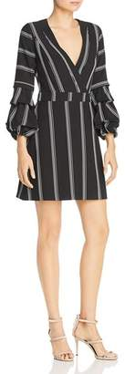 Laundry by Shelli Segal Striped Puff Sleeve Dress
