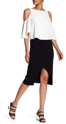 Alice + Olivia Denby Clean Crossover Pencil Skirt