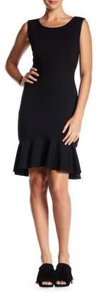 Max Studio Sleeeveless Ruffle Hem Dress