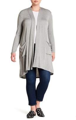 Bobeau Long Sleeve Knit Cardigan (Plus Size)