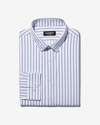 Express Slim Striped Performance Wrinkle-Resistant Button-Down Dress Shirt